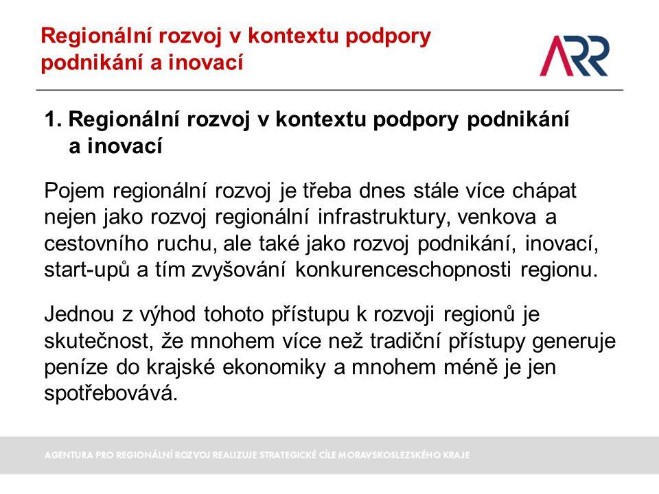 Regionální rozvoj v kontextu podpory podnikání a inovací 1. Regionální rozvoj v kontextu podpory podnikání a inovací Pojem regionální rozvoj je třeba
