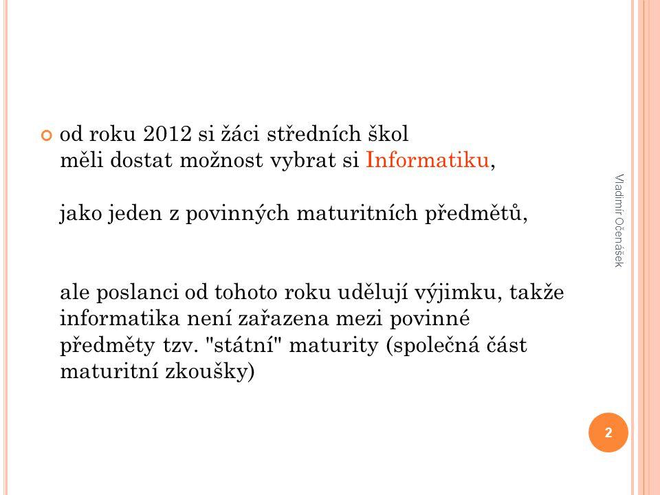 Děkuji za pozornost. 43 Vladimír Očenášek