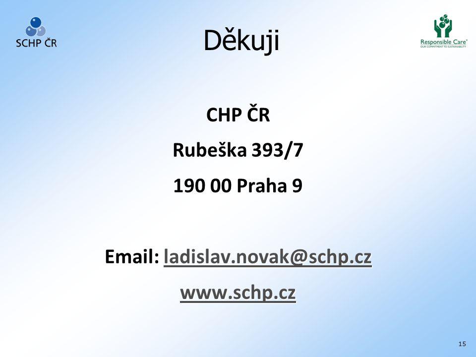 15 CHP ČR Rubeška 393/7 190 00 Praha 9 Email: ladislav.novak@schp.cz ladislav.novak@schp.cz www.schp.cz Děkuji