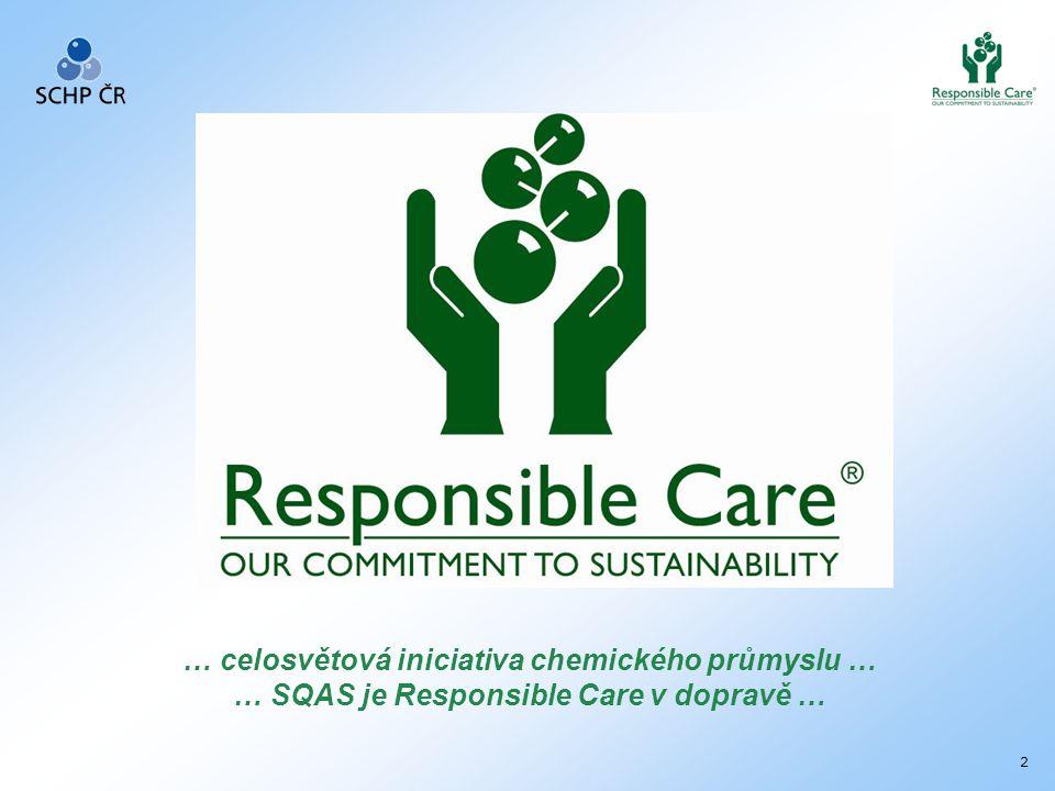 2 … celosvětová iniciativa chemického průmyslu … … SQAS je Responsible Care v dopravě …