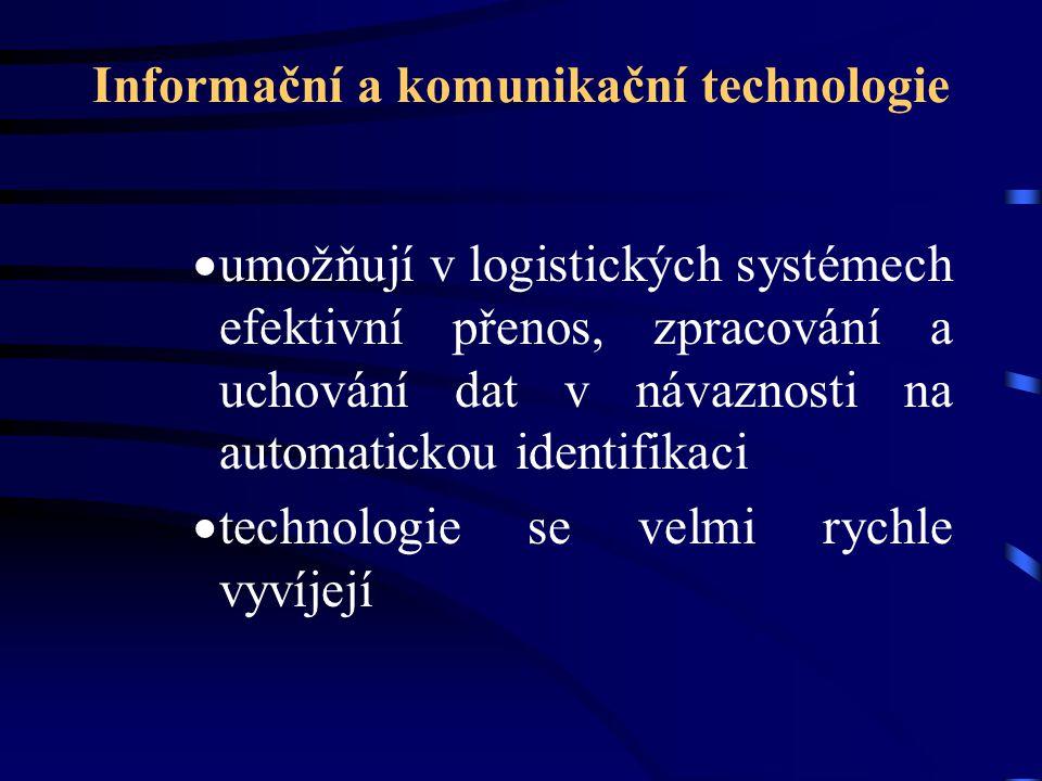 Informační a komunikační technologie  umožňují v logistických systémech efektivní přenos, zpracování a uchování dat v návaznosti na automatickou iden
