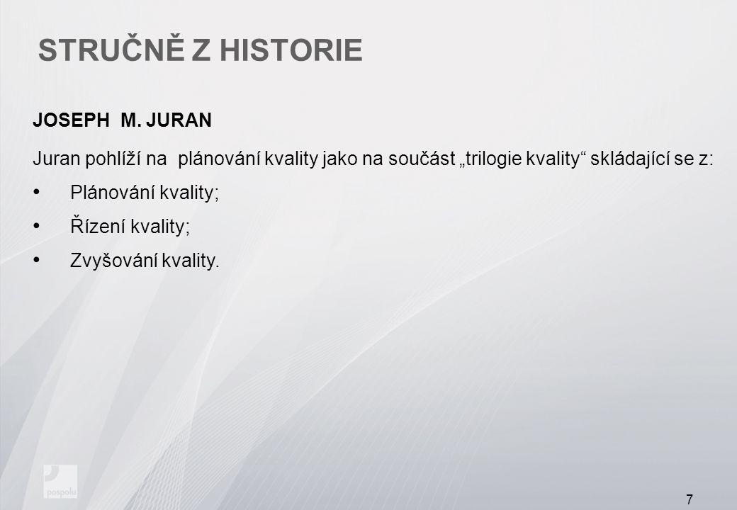 STRUČNĚ Z HISTORIE JOSEPH M.