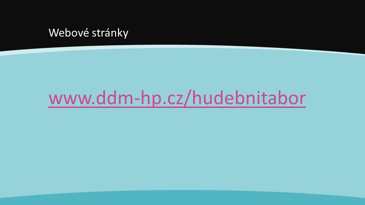 Webové stránky www.ddm-hp.cz/hudebnitabor