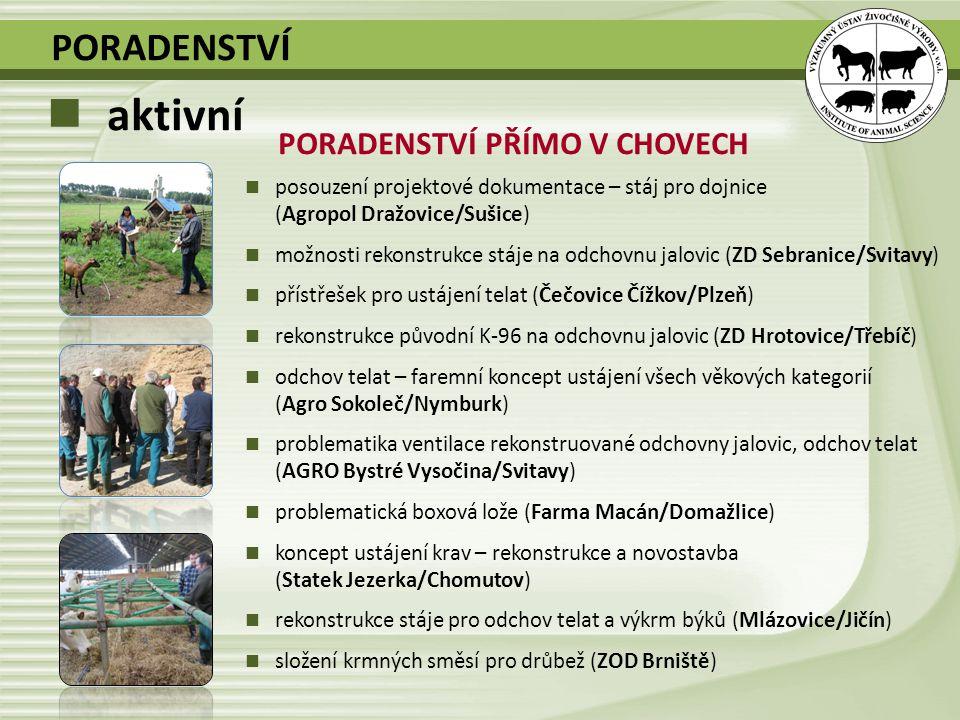 PORADENSTVÍ PŘÍMO V CHOVECH posouzení projektové dokumentace – stáj pro dojnice (Agropol Dražovice/Sušice) možnosti rekonstrukce stáje na odchovnu jal