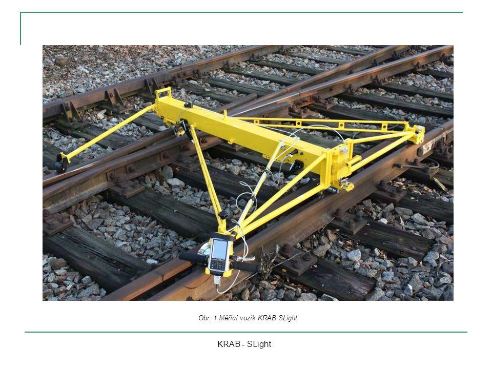 KRAB - SLight Obr. 1 Měřící vozík KRAB SLight