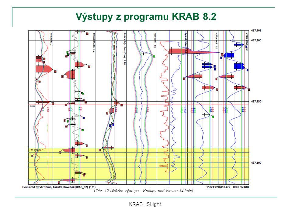 Výstupy z programu KRAB 8.2 KRAB - SLight Obr. 12 Ukázka výstupu – Kralupy nad Vlavou 14 kolej