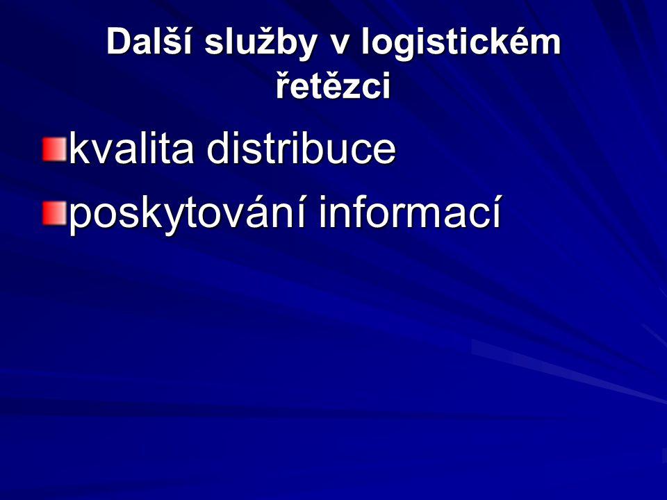 Další služby v logistickém řetězci kvalita distribuce poskytování informací