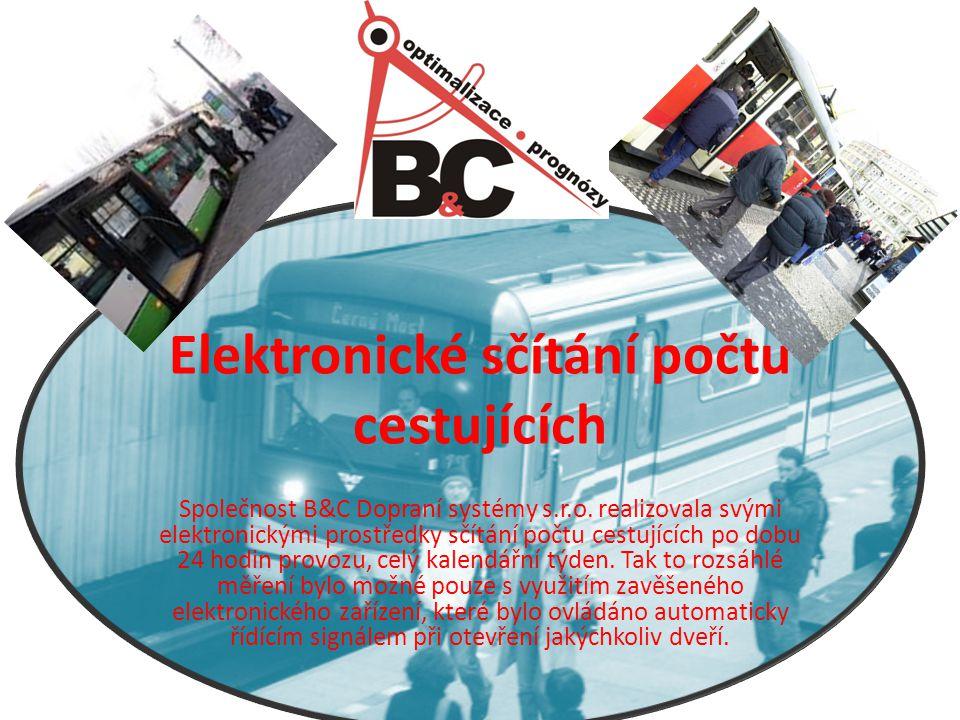 Elektronické sčítání počtu cestujících Společnost B&C Dopraní systémy s.r.o.