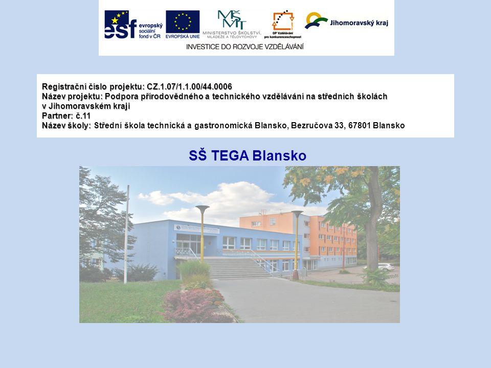 Registrační číslo projektu: CZ.1.07/1.1.00/44.0006 Název projektu: Podpora přírodovědného a technického vzdělávání na středních školách v Jihomoravské