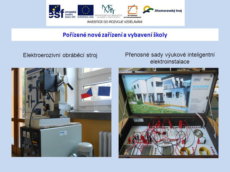 Elektroerozivní obráběcí stroj Přenosné sady výukové inteligentní elektroinstalace Pořízené nové zařízení a vybavení školy
