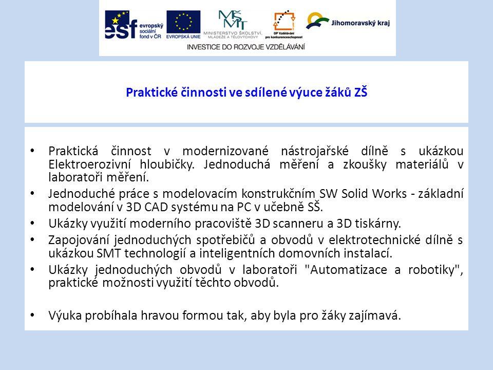Technické kroužky žáků SŠ – strojírenství a elektrotechnika V rámci řešení KA č.