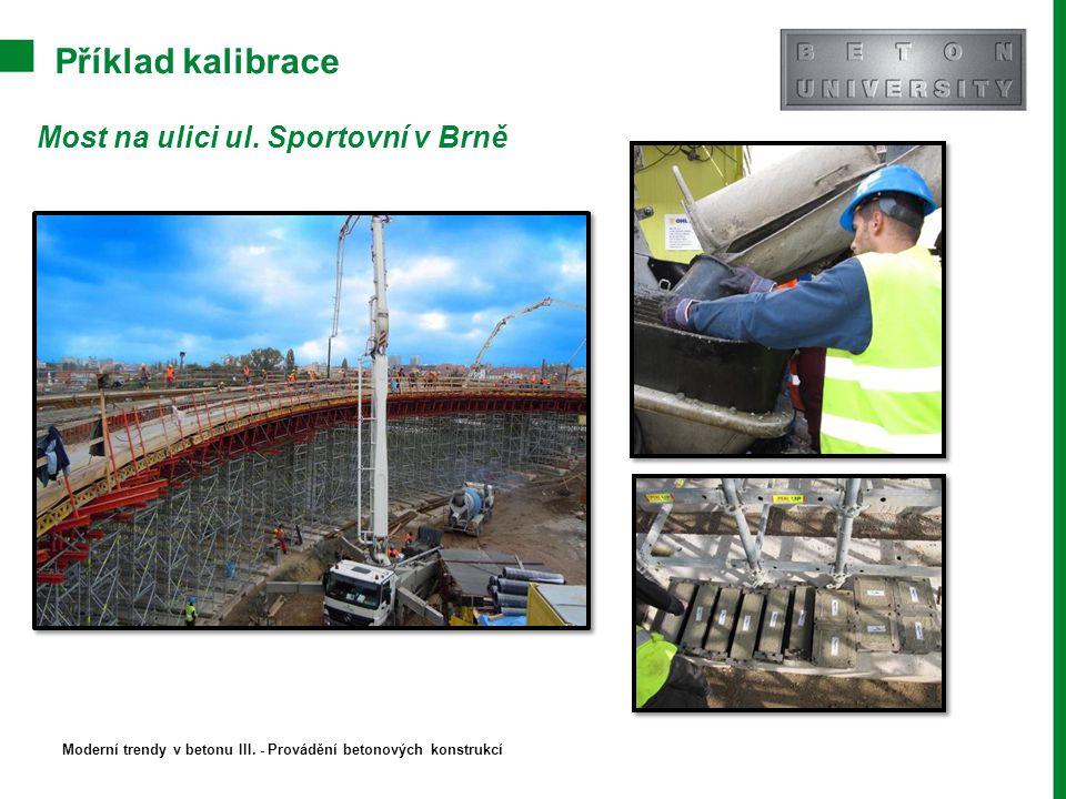 Příklad kalibrace Most na ulici ul. Sportovní v Brně Moderní trendy v betonu III. - Provádění betonových konstrukcí