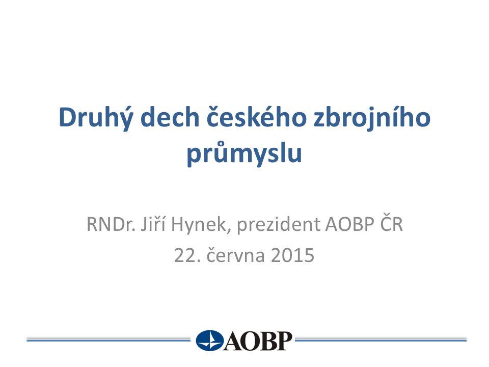 Druhý dech českého zbrojního průmyslu RNDr. Jiří Hynek, prezident AOBP ČR 22. června 2015