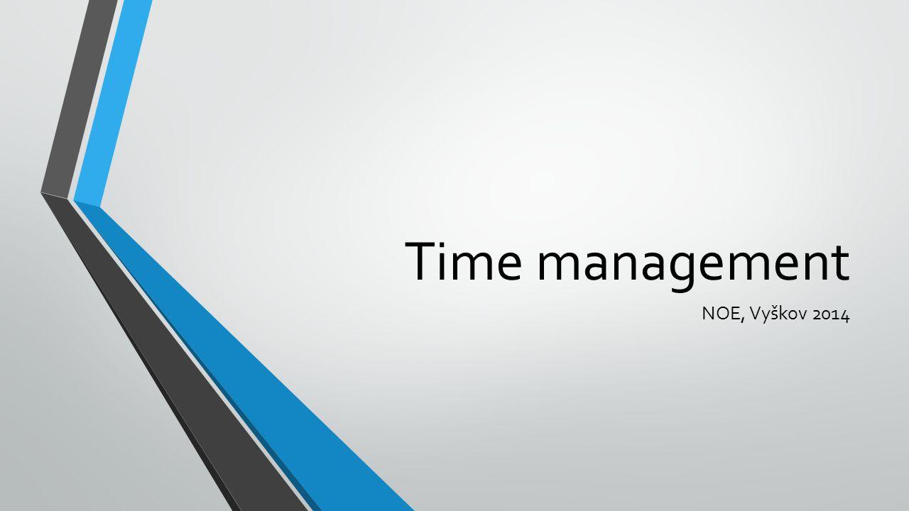 Time management NOE, Vyškov 2014