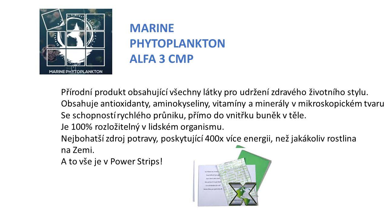 MARINE PHYTOPLANKTON ALFA 3 CMP Přírodní produkt obsahující všechny látky pro udržení zdravého životního stylu.