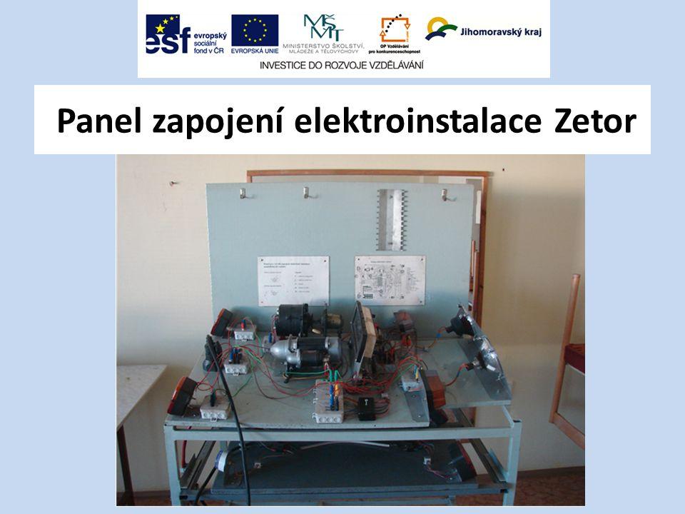 Panel zapojení elektroinstalace Zetor