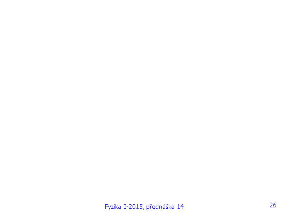 26 Fyzika I-2015, přednáška 14