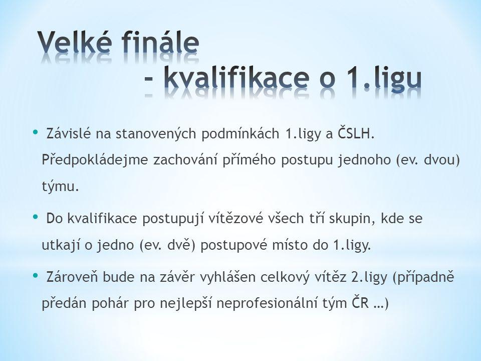 Závislé na stanovených podmínkách 1.ligy a ČSLH.