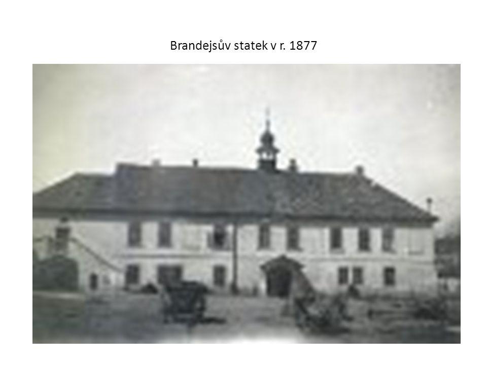 Brandejsův statek v r. 1877