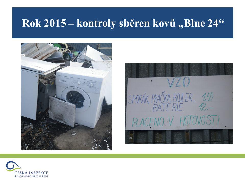 """Rok 2015 – kontroly sběren kovů """"Blue 24"""