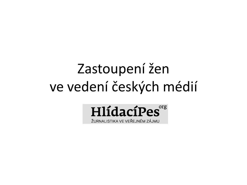 Zastoupení žen ve vedení českých médií HlidaciPes.org