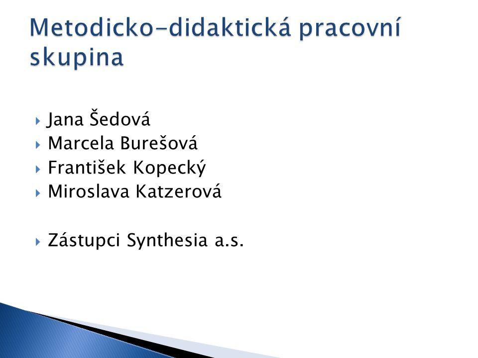  Jana Šedová  Marcela Burešová  František Kopecký  Miroslava Katzerová  Zástupci Synthesia a.s.