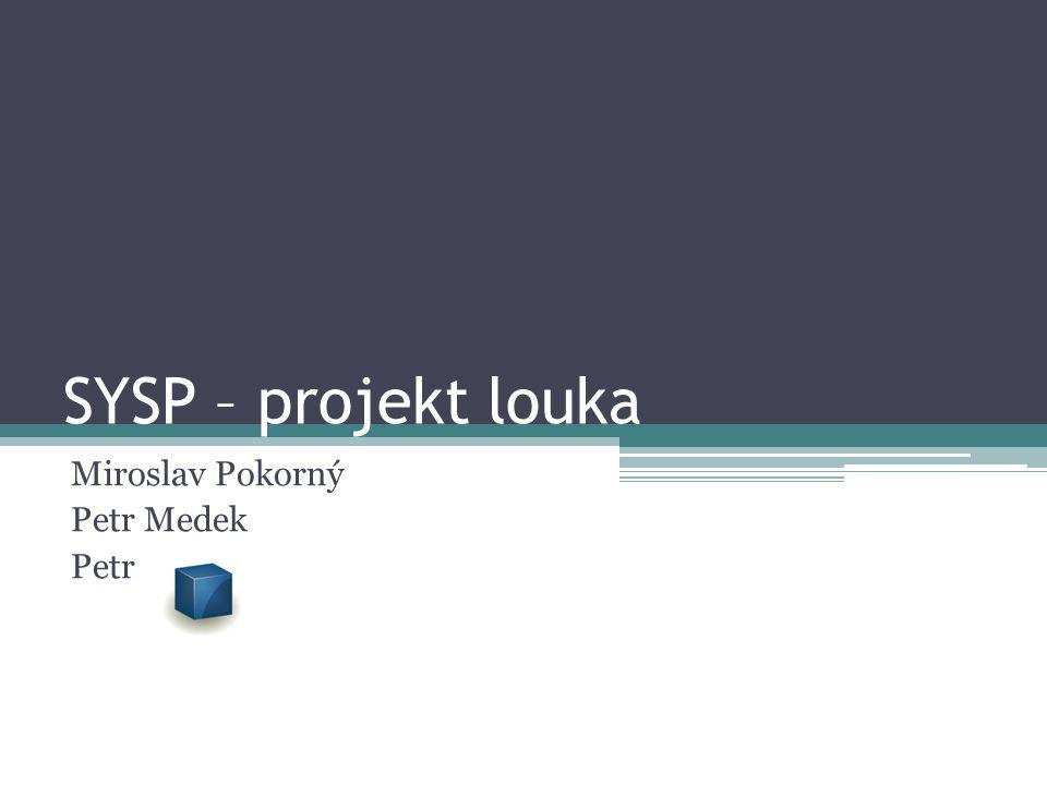 SYSP – projekt louka Miroslav Pokorný Petr Medek Petr Kostka