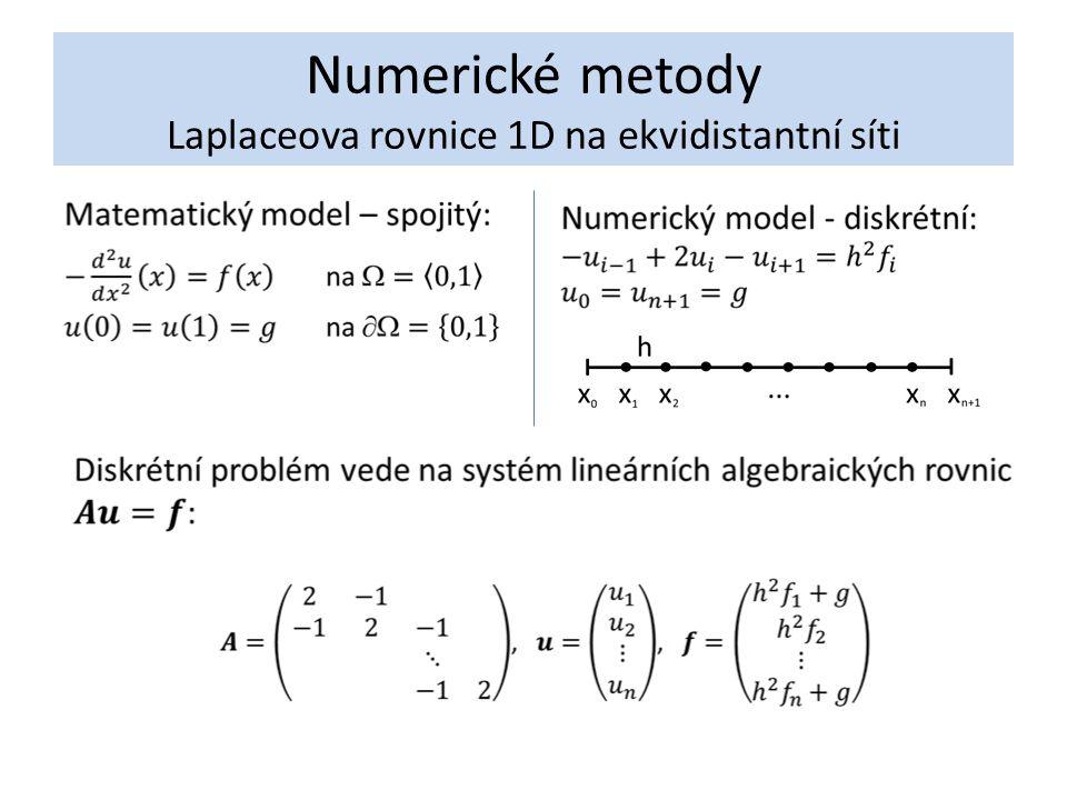 Numerické metody Laplaceova rovnice 1D na ekvidistantní síti