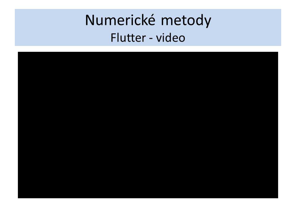 Numerické metody Flutter - video