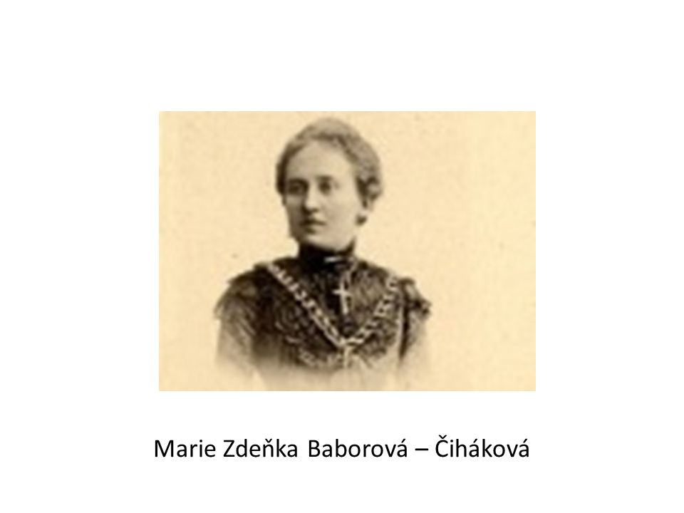 Marie Zdeňka Baborová – Čiháková