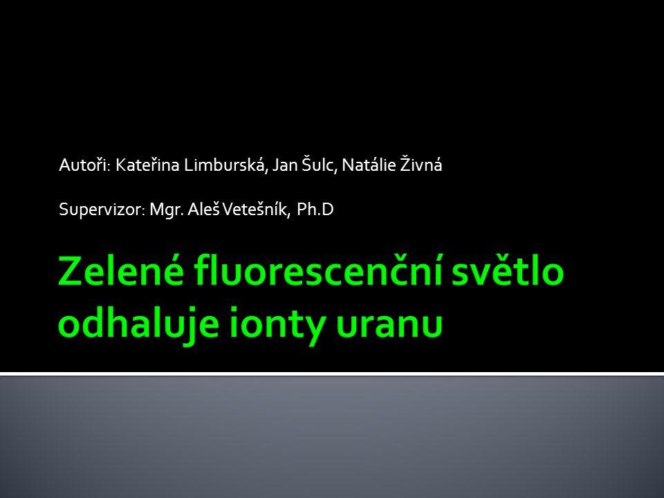 Autoři: Kateřina Limburská, Jan Šulc, Natálie Živná Supervizor: Mgr. Aleš Vetešník, Ph.D