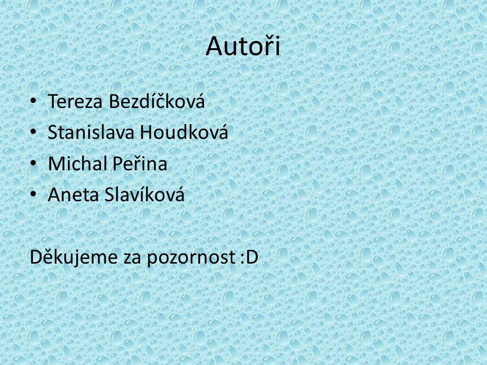 Autoři Tereza Bezdíčková Stanislava Houdková Michal Peřina Aneta Slavíková Děkujeme za pozornost :D