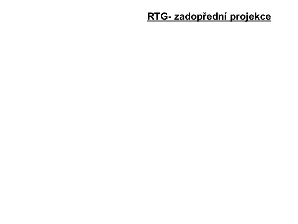 RTG- zadopřední projekce