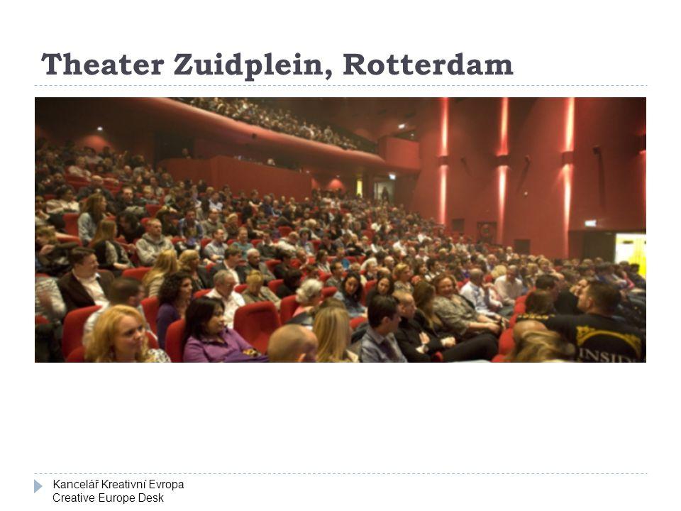 Kancelář Kreativní Evropa Creative Europe Desk Theater Zuidplein, Rotterdam