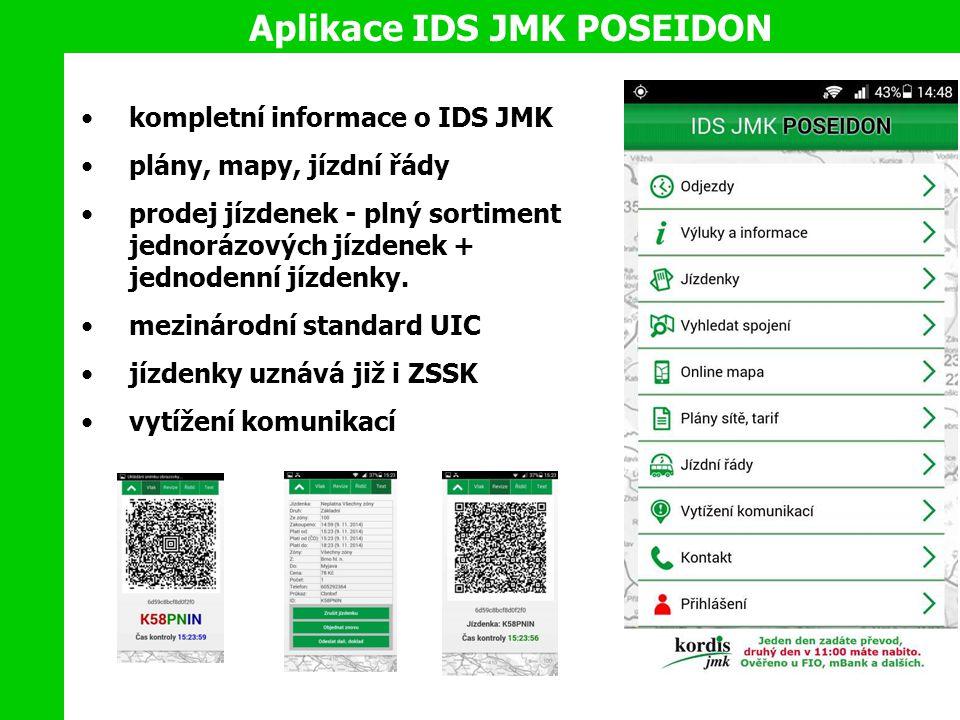 kompletní informace o IDS JMK plány, mapy, jízdní řády prodej jízdenek - plný sortiment jednorázových jízdenek + jednodenní jízdenky.