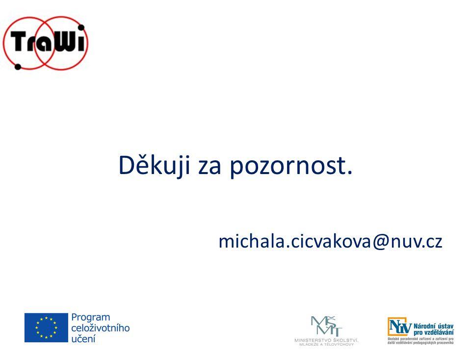 Děkuji za pozornost. michala.cicvakova@nuv.cz