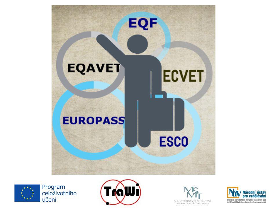 Společné cíle  zvýšit mobilitu a zaměstnatelnost žáků/pracovních sil v EU (6% žáků vyjíždějících na zahraniční stáž v rámci odborného vzdělávání)  transparentnost a srozumitelnost kvalifikací  zmenšit propast mezi světem práce a světem vzdělávání  vzájemné porozumění a důvěra mezi státy EU