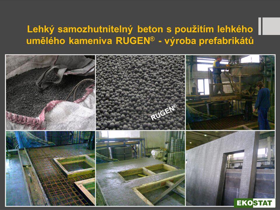 Lehký samozhutnitelný beton s použitím lehkého umělého kameniva RUGEN ® - výroba prefabrikátů RUGEN ®