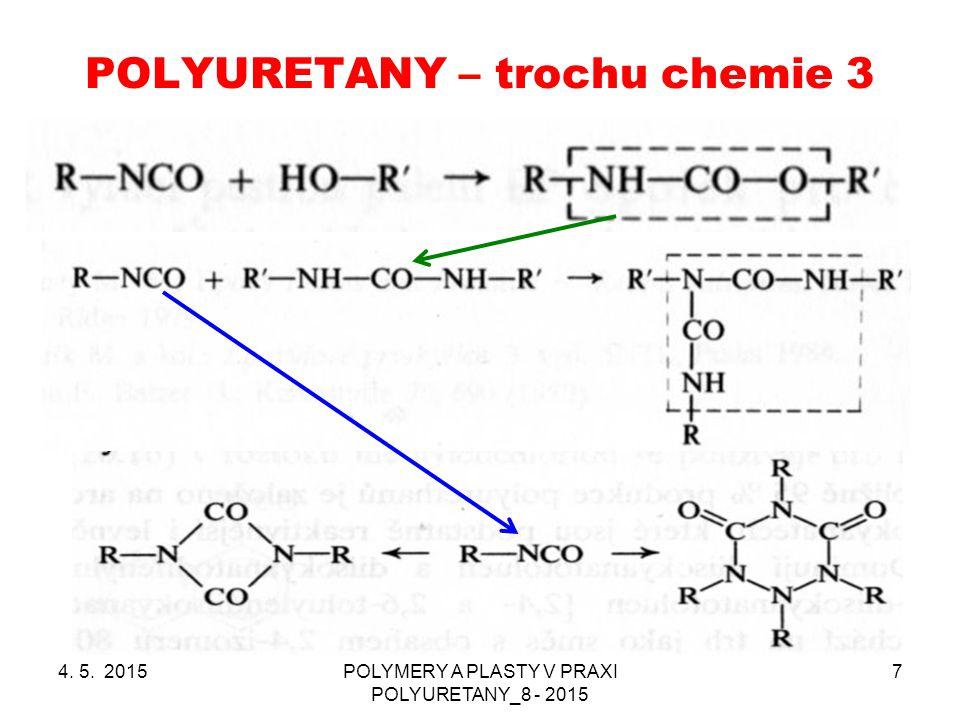 POLYURETANY – trochu chemie 3 4. 5. 2015POLYMERY A PLASTY V PRAXI POLYURETANY_8 - 2015 7
