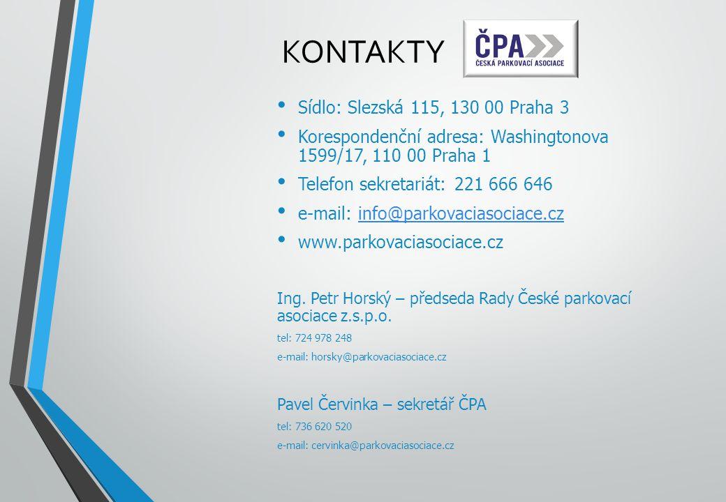KONTAKTY Sídlo: Slezská 115, 130 00 Praha 3 Korespondenční adresa: Washingtonova 1599/17, 110 00 Praha 1 Telefon sekretariát: 221 666 646 e-mail: info