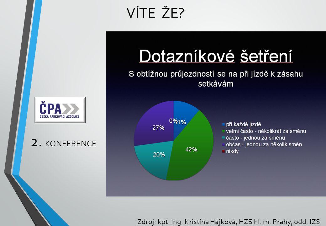 2. KONFERENCE VÍTE ŽE? Zdroj: kpt. Ing. Kristína Hájková, HZS hl. m. Prahy, odd. IZS