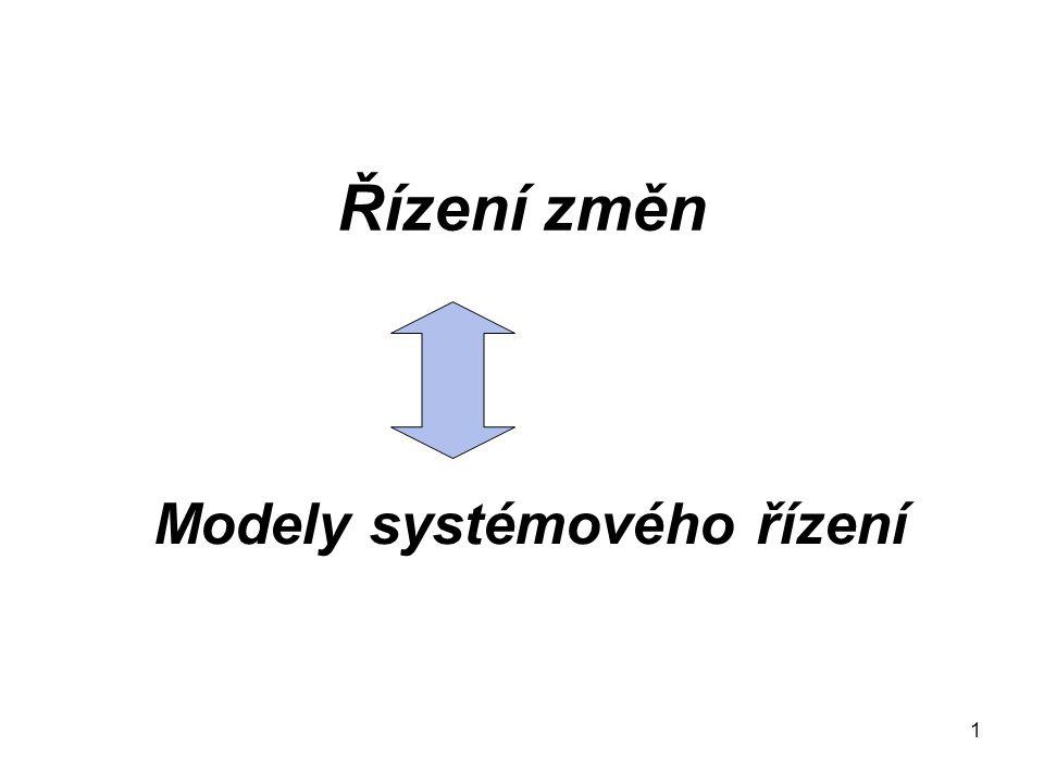 1 Řízení změn Modely systémového řízení