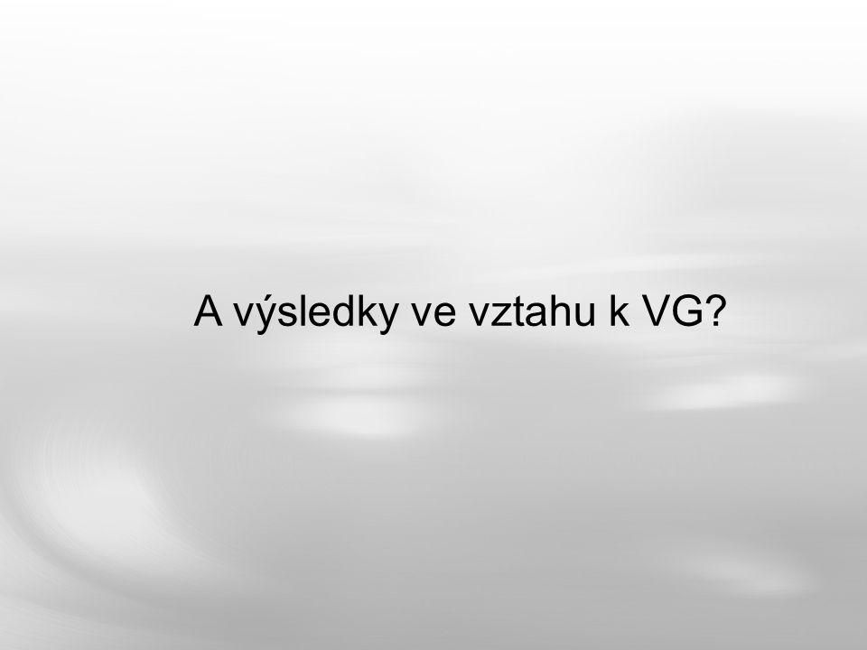 A výsledky ve vztahu k VG?