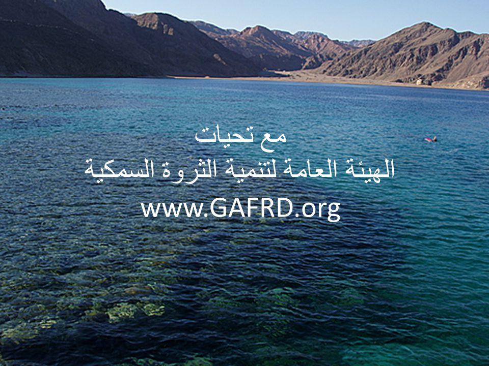 مع تحيات الهيئة العامة لتنمية الثروة السمكية www.GAFRD.org