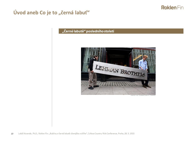"""Lukáš Kovanda, Ph.D., Roklen Fin: """"Bubliny a černé labutě včerejška a zítřka"""", Coface Country Risk Conference, Praha, 28. 5. 2015 10 Úvod aneb Co je t"""