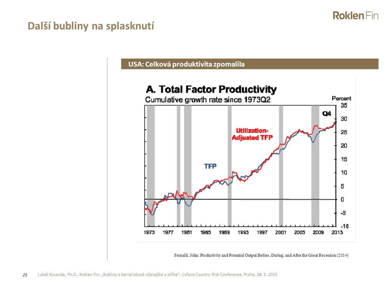 """Lukáš Kovanda, Ph.D., Roklen Fin: """"Bubliny a černé labutě včerejška a zítřka"""", Coface Country Risk Conference, Praha, 28. 5. 2015 25 Další bubliny na"""