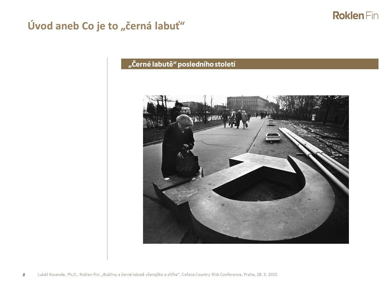 """Lukáš Kovanda, Ph.D., Roklen Fin: """"Bubliny a černé labutě včerejška a zítřka"""", Coface Country Risk Conference, Praha, 28. 5. 2015 8 Úvod aneb Co je to"""