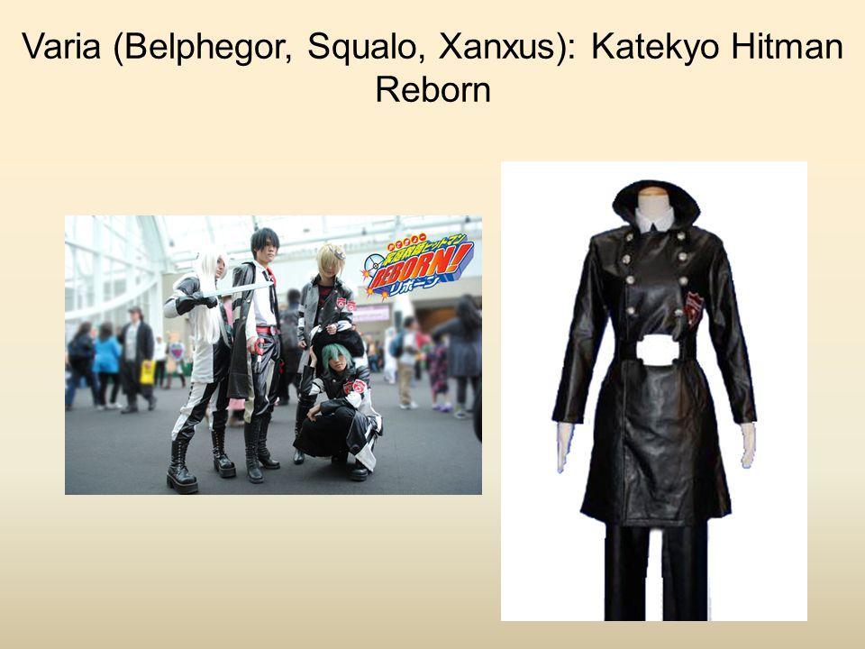 Varia (Belphegor, Squalo, Xanxus): Katekyo Hitman Reborn