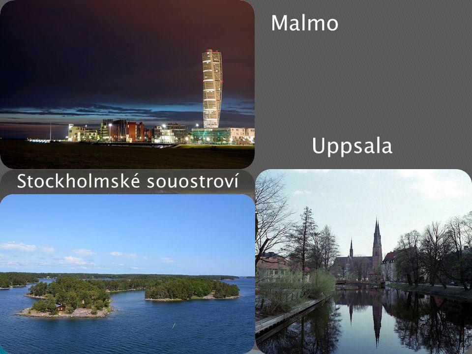 Malmo Uppsala Stockholmské souostroví