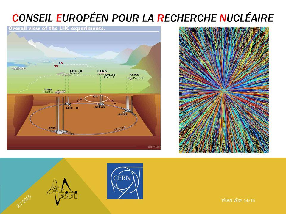 CONSEIL EUROPÉEN POUR LA RECHERCHE NUCLÉAIRE 2.7.2015 TÝDEN VĚDY 14/15